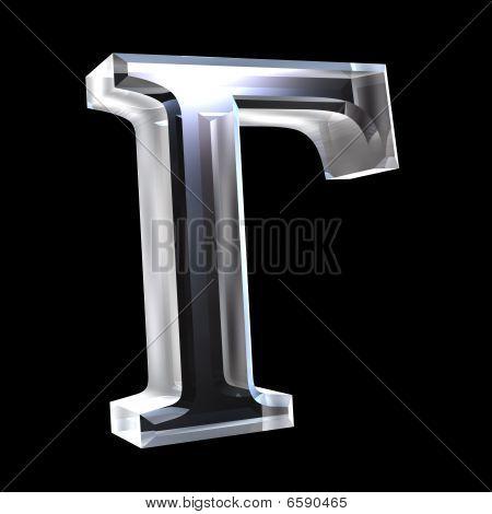 gamma symbol in glass (3d)