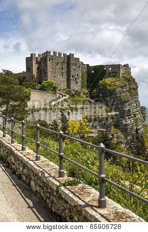Norman Venus Castle At Erice, Sicily