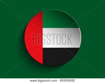 Emirates Flag Paper Circle Shadow Button
