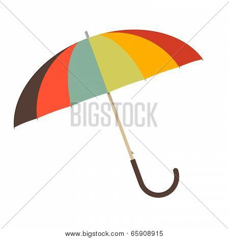 Retro Umbrella Vector Illustration