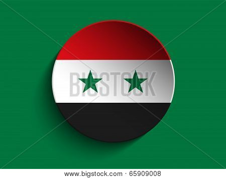 Flag Paper Circle Shadow Button Syria