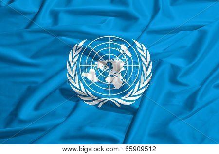 Onu Flag On A Silk Drape Waving