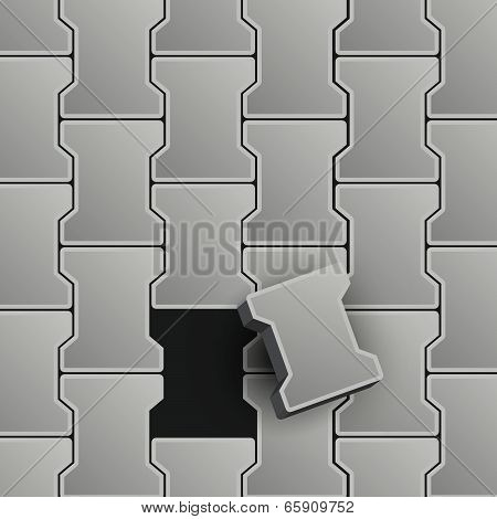 Lock Pavement Vector Illustration