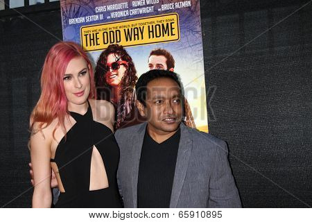LOS ANGELES - MAY 30:  Rumer Willis, Rajeev Nirmalakhandan at the