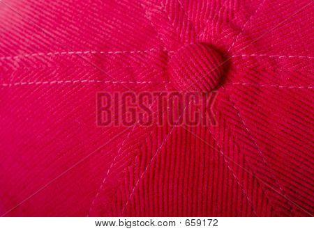 A velveteen red cap