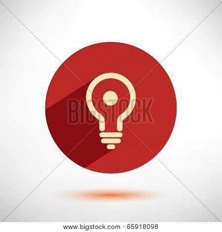 Light Bulb Flat Icon