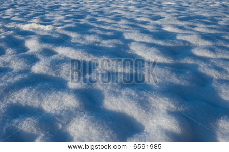 Snow On A Field