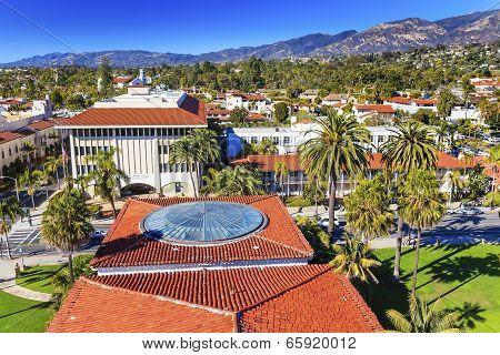 Local Court House Orange Roofs Buildings Mission Houses Santa Barbara California