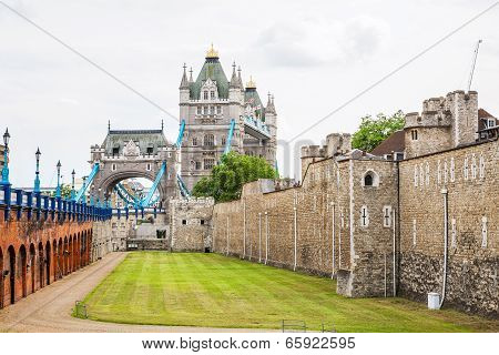Tower Of London And Tower Bridge. London, England
