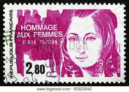 Postage Stamp France 1984 Flora Tristan, Feminist