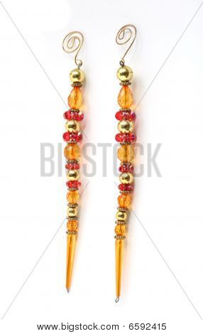 Long Hanging Jewellery Style Christmas Decorations