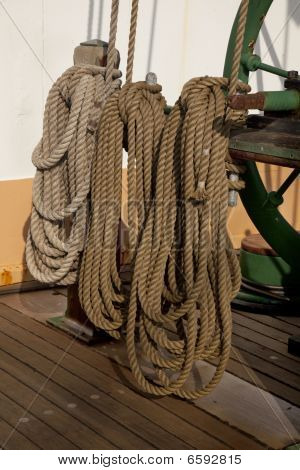 Coiled Ropes And Winch
