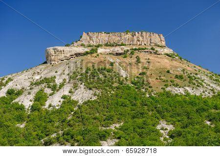 Tepe Kermen mountain and ancient cave city, Crimea, Ukraine or Russia