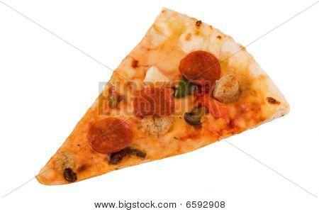 Photo Of Pizza Slice Isolated Over White Background