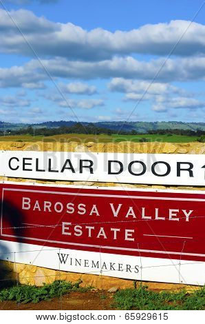 Barossa Valley, South Australia – May 29, 2014: Cellar Door Signage For Barossa Valley Estate Winema