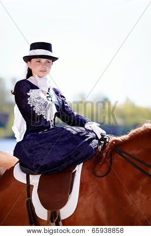 Portrait Of The Lady On Riding Walk.