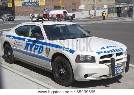 NYPD highway patrol car in Manhattan