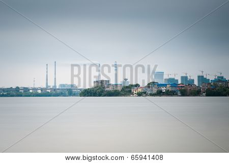 Thermal Power Plant With Lake