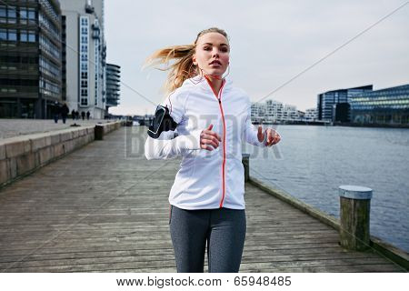 Young Woman Out For A Jog