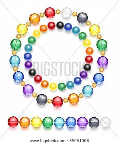 Necklace Of Multicolored Beads