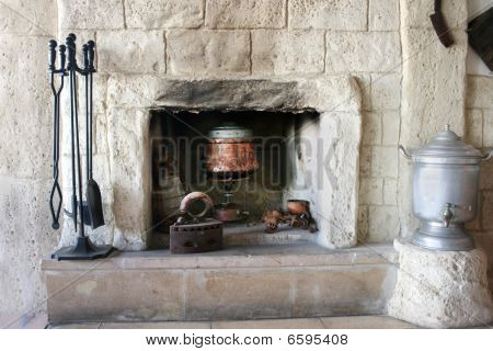 Fire-place In Old House