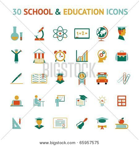 vector 30 education icons