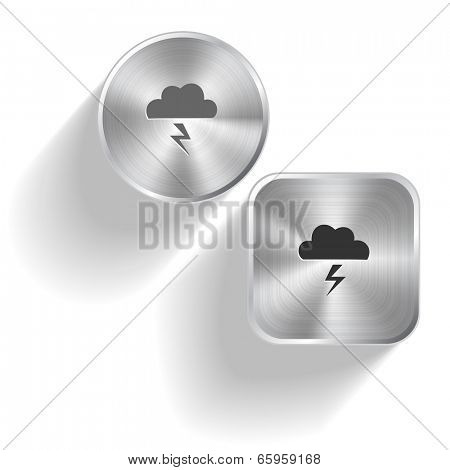 Storm. Raster set steel buttons