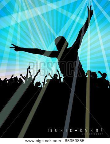 Clubbing. Vector illustration