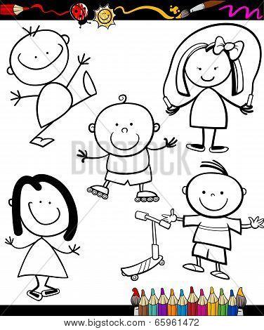 Happy Kids Cartoon Coloring Book