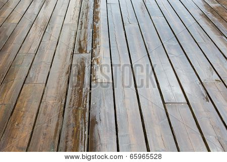 Wet Wooden Planks
