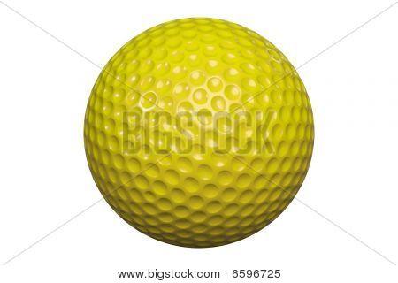 Golf ball isolated