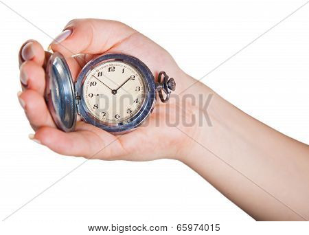 Hand With Clock