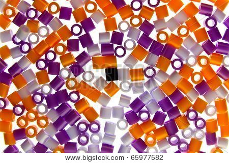 Colorful Beats On White Background
