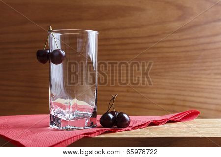 Glass and cherry