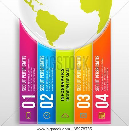 Infographic Abstract Digital Vector Template for Business Design. Can be used for workflow layout, diagrams and web designs.