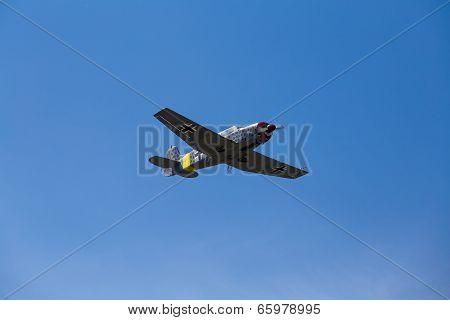 German Military Airplane In Blue Sky