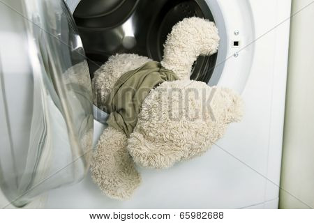 Washing Soft Toys: Soft Toy Falling Out Of A Washing Machine