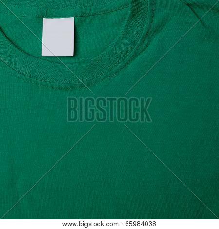t-shirt backgound, clean lable