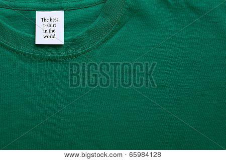 Closeup T-shirt Collar