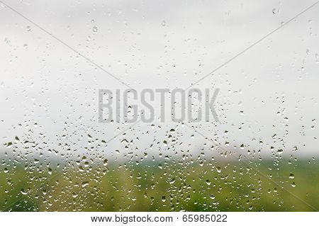 Rain Drops On Window Pane