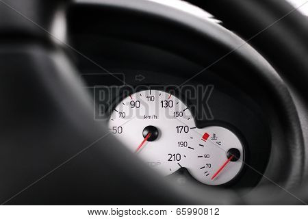Car Interior. speedometer