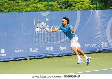 BANGKOK - MAY 31 : Christopher Marquis of India in Chang ITF (International Tennis Federation) Pro Circuit 2014 on May 31 2014 in Bangkok Thailand.