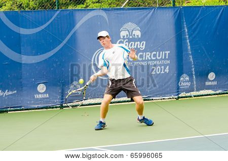 BANGKOK - MAY 31 : Mitchell Pritchard of Australia in Chang ITF (International Tennis Federation) Pro Circuit 2014 on May 31 2014 in Bangkok Thailand.