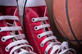 Постер, плакат: Sport Sneakers And Basket Ball