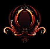 pic of fieri  - Oval banner of red flames - JPG