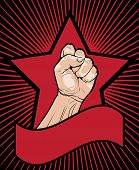 foto of clenched fist  - Fist of power  - JPG