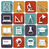 picture of informatics  - Set of school and education icons - JPG