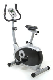 picture of exercise bike  - Stationary bicycle - JPG