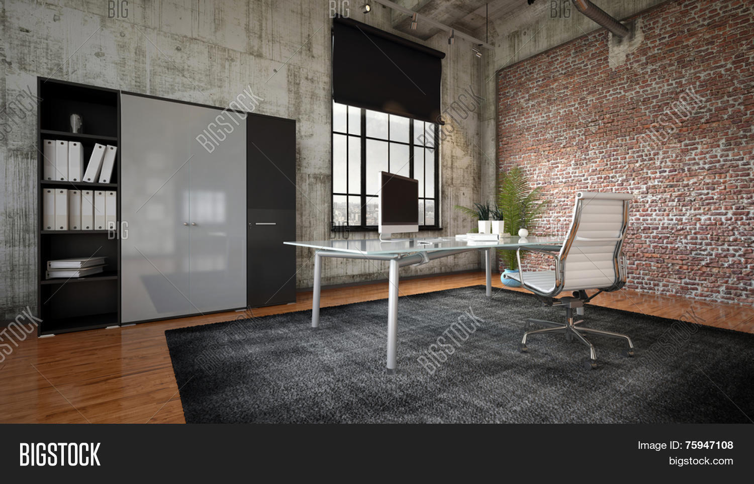 3d Rendering Commercial Office Image Amp Photo Bigstock