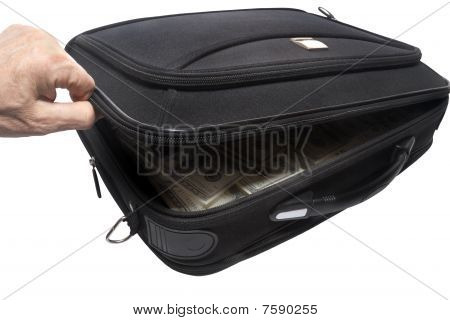 brief case with money